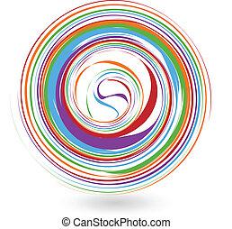 Colorful wave logo
