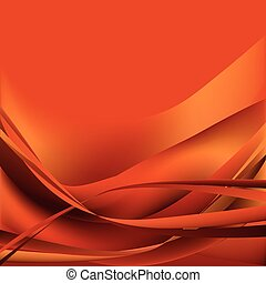 waves abstract background orange