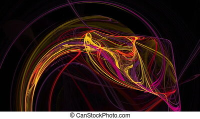 Colorful waves abstract loop motion background