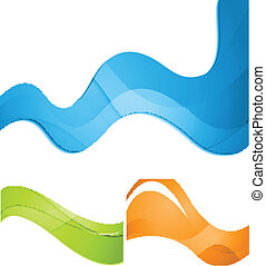 Colorful waves vector abstract design