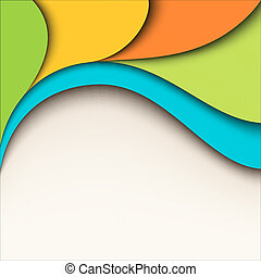 Colorful wavy design