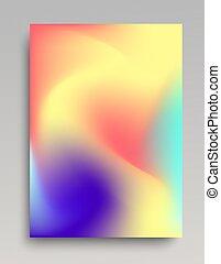 Colorful wavy gradient backdrop
