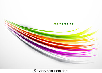 Colorful wavy lines abstract background