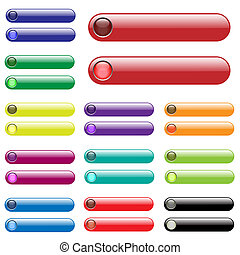 Colorful Web Bars - Image of various colorful web bars...