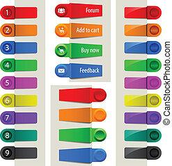 Colorful web elements