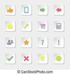 colorful web icon set 2