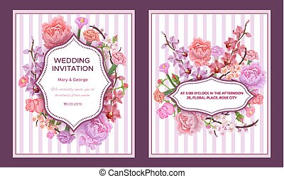 Colorful Wedding Invitation Cards