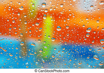 Colorful wet window