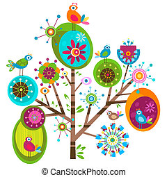 whimsy birds - colorful whimsy birds