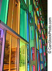 Colorful Windows - A view of downtown Montreal from the...