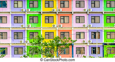 Colorful windows background