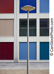 Colorful windows shutters