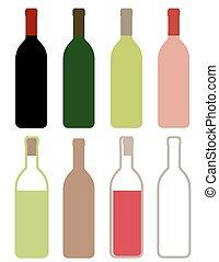colorful wine bottles