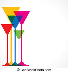 colorful wine glass vector background