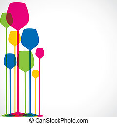 colorful wine glass background - colorful wine glass stock...