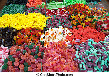 Colorful wine gum sweets candys