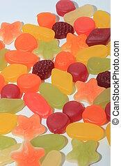 Colorful wine gums