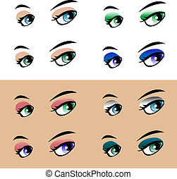 colorful woman eye isolated