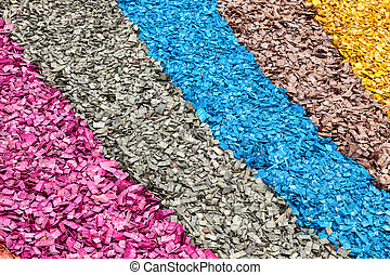 Colorful wood chips as creative background