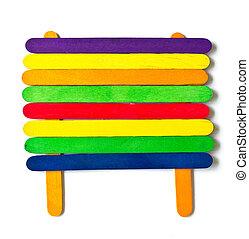colorful wood ice-cream stick.
