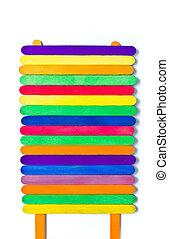 colorful wood ice-cream stick