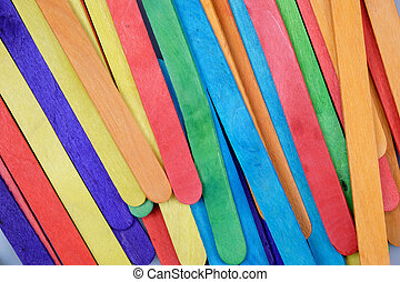Colorful wood wall background texture