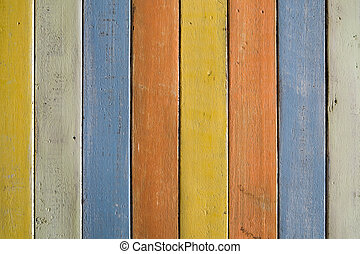 Colorful wooded pattern