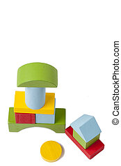 Colorful wooden blocks toy