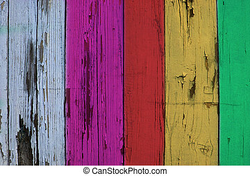 colorful wooden boards background