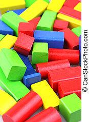 building blocks - colorful wooden childens building blocks ...