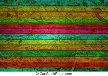 colorful wooden interior