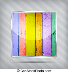 colorful wooden pattern icon