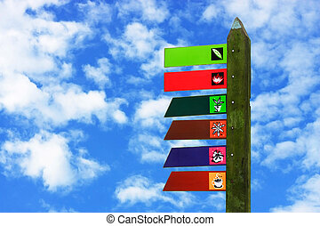 Colorful Wooden Signboard
