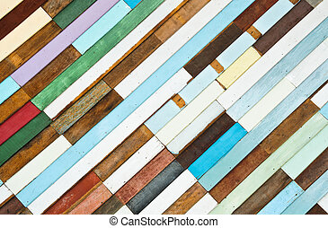 Colorful wooden wall texture