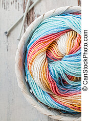 Colorful Woolen Yarn - Colorful woolen knitting yarns in...