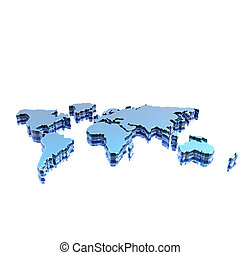 world geographical map silhouette - colorful world...