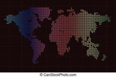World map square world map formed by squares vector illustration colorful world map square abstract background vector gumiabroncs Choice Image
