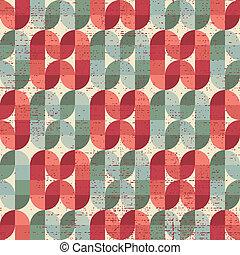 Colorful worn textile geometric seamless pattern, decorative...