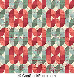 Colorful worn textile geometric seamless pattern, decorative...
