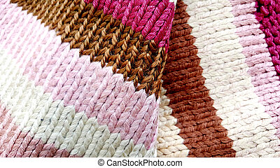 colorful woven fabric, texture of a tekstile