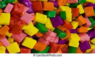 Colorful Wrapped Candy - Colorful wrapped candy closeup