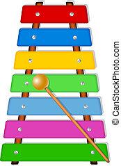 Colorful xylophone