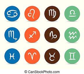 colorful zodiac sign horoscope