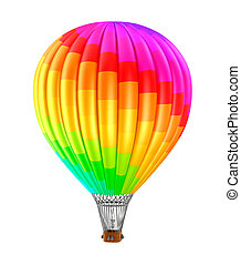 Colorfull balloon isolated on white