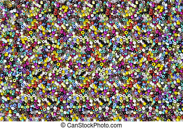 Colorfull beads texture