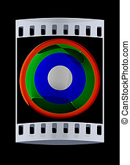 Colorfull button. The film strip