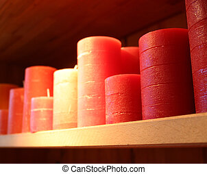 candles on the rack