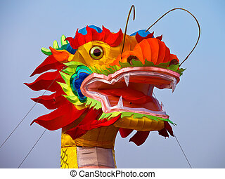 Colorfull dragon in china to celebrate chinese new year...