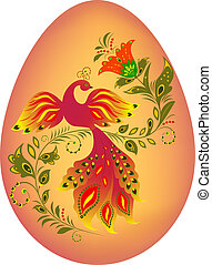 colorfull easter egg - Illustration of colorfull easter egg