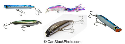 lure - colorfull fishing lure with treble hooks
